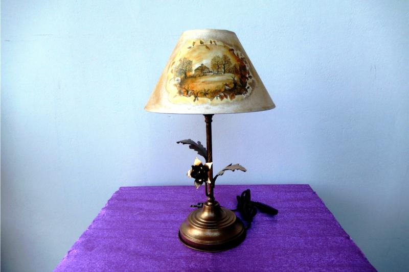 Πορτατίφ σε vintage style. Decoupage στο καπέλο με ριζόχαρτο.